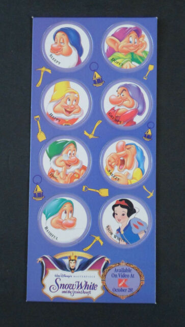 1994 Snow White & The Seven Dwarfs Trading Caps Pogs ~ Disney Kmart Exclusive
