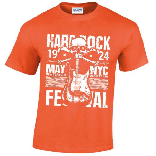 Hard Rock Festival T-Shirt Mens Band Grunge Distressed Punk Cool retro vintage