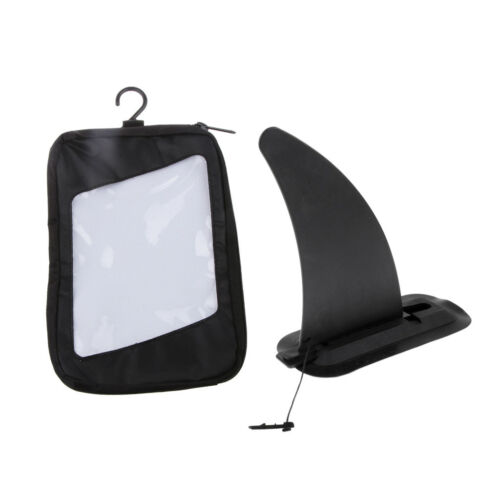 Portable Kayak Skeg Tracking Fin Mounting Point with Fin Gear Carrying Bag