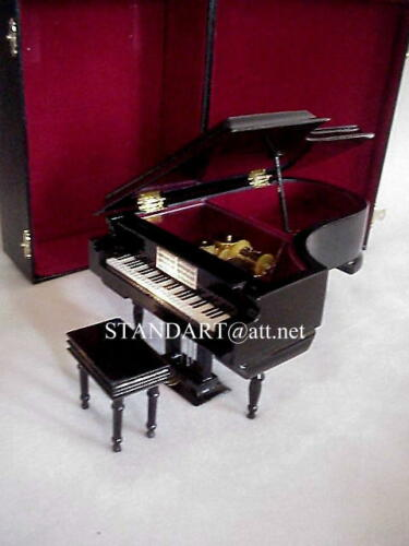 """Musical Piano  Nutcracker /""""Waltz of the Flowers/"""" w//  golden Egg Necklace"""