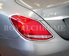 Mercedes Benz Nuevo 4 puertas sedán de clase C W205 Cromado Luz Trasera Adornos X 2 2014