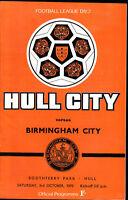1970/71 HULL CITY V BIRMINGHAM CITY 03-10-1970 Division 2