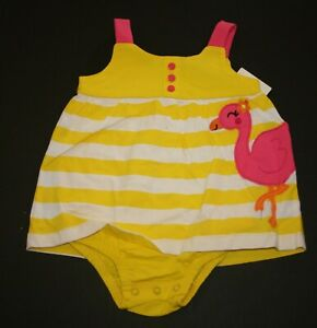 NWT Carter/'s Baby Toddler Girls/' Heart Whale Back Snap Cotton Romper 18 Mos CUTE