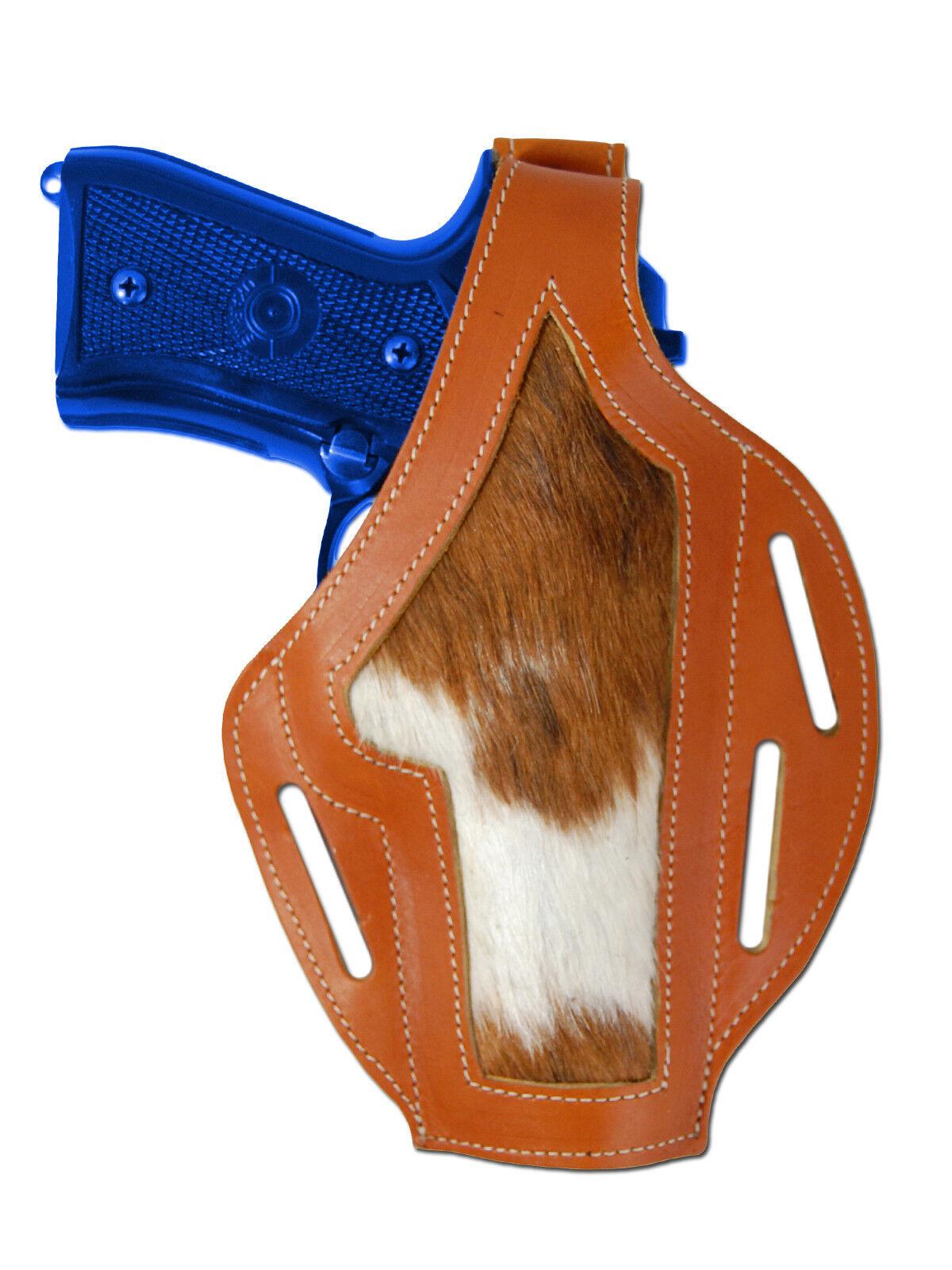 Nuevo barsony cuero tostado Personalizado Funda Pistola Para Ruger Star de tamaño completo de 9 mm 40 45