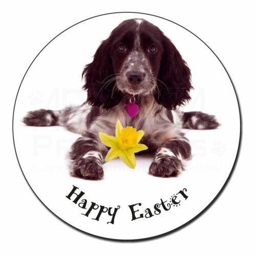 /'Happy Easter/' Cocker Spaniel Fridge Magnet Stocking Filler Christ AD-SC13DA1FM