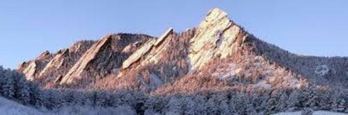 Boulder Colorado Flatirons Rock Formation Mountain Metal Wall Art CU Buffaloes