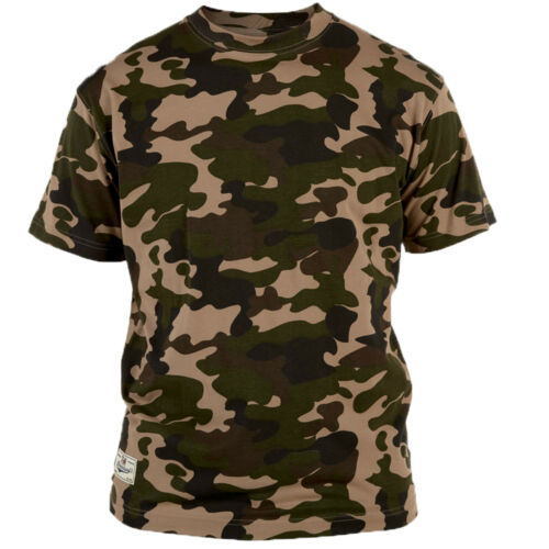Mens Duke Big Plus Size Camouflage Short Sleeve T-Shirt Top   3XL 4XL 5XL 6XL