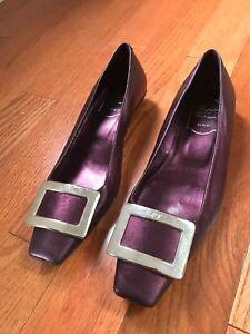 Flats Purple Sz Vivier Metallic 7 Roger Sparkly n0OPXw8k