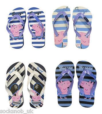 1 Pair George Peppa Pig Flip Flops Beach Sandals Shoe For Boys, Thongs