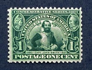 Scott US #328 - 1907 Jamestown Issue, 1 Cent; Mint Never Hinged; OG; CV=$70