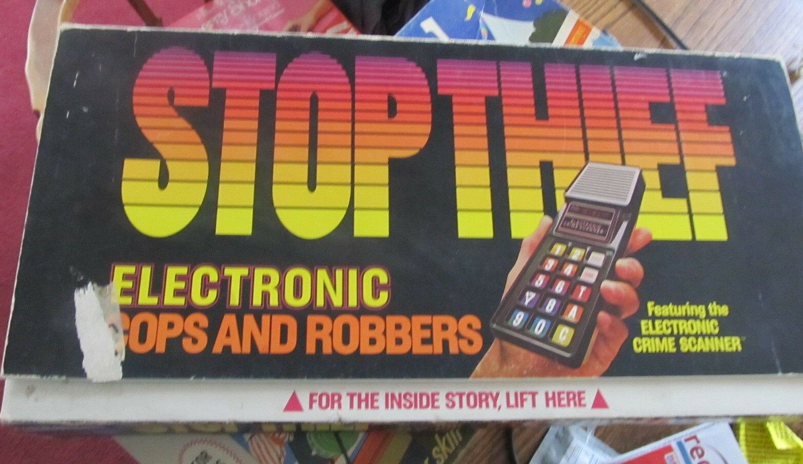 Electronic Stop Thief game TESTED works great COMPLETE Parker Bredhers