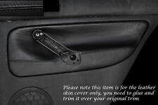 BLACK STITCH 2X REAR DOOR CARD SKIN COVERS FITS VW GOLF 4 MK4 JETTA 98-05 5DR