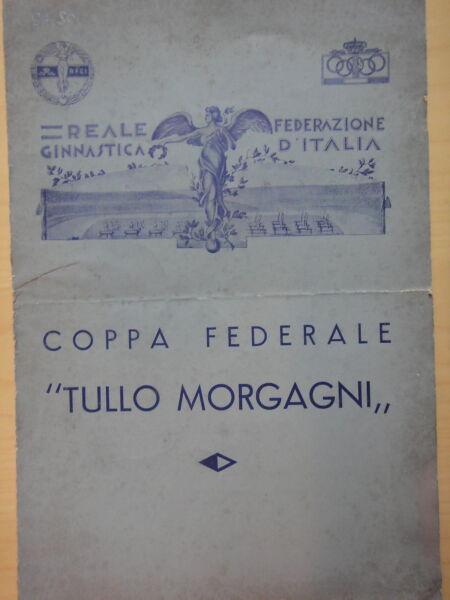 """1930 Circa-coppa Federale """"tullo Morgagni""""-ginnastica Artistica+"""