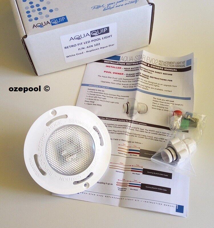 Aquaquip Evo2 LED Weiß 12v AC with plug