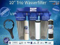10 Trio Wasserfilter Brunnenfilter Hauswasserfilter Trinkwasserfilter Gartenfil