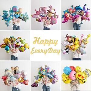 10Pc-Mini-Cartoon-Unicorn-Foil-Balloons-Baby-Shower-Birthday-Party-Balloon-Decor