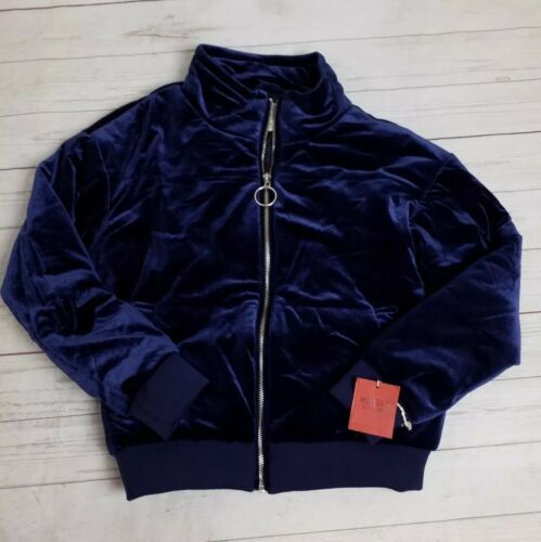 XXL Blue Velvet Like Womens Puffy Jacket Coat Mossimo New With Tags
