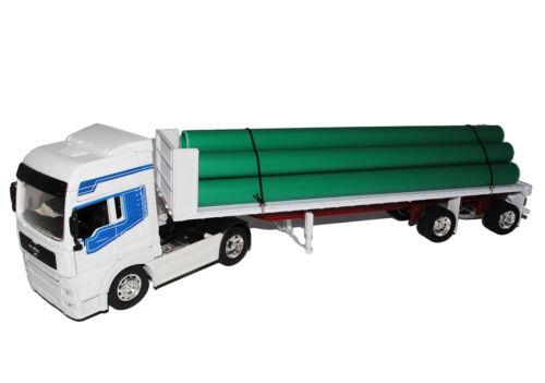 Se TG 18.410 blanco con tubos y hummer camión camión 1//32 New Ray modelo coche