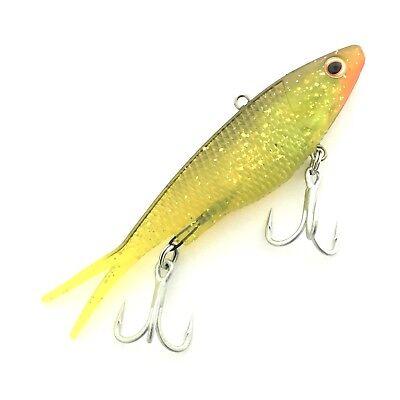 110mm Soft Vibe Pontiac Soft Plastic Fishing Lure 26gm #1 Mellow Yellow