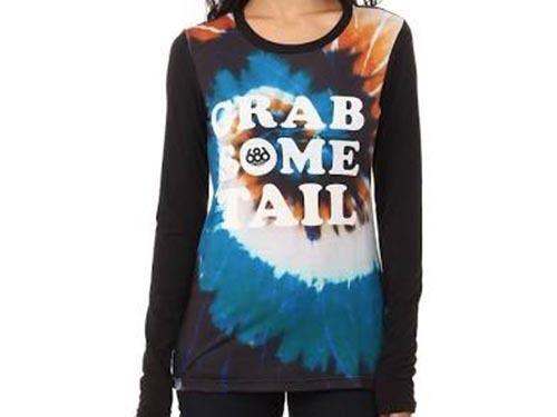 686 Women Tech Long Sleeve Shirt (S) Grab Some Tie Dye