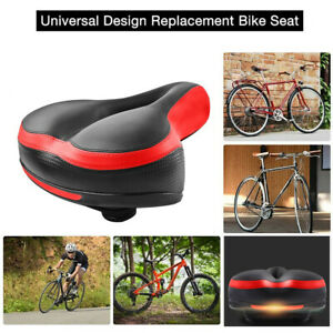 Most Bike Seat Shock Absorbing Wide Saddle Soft Cushion Pad w// Taillight