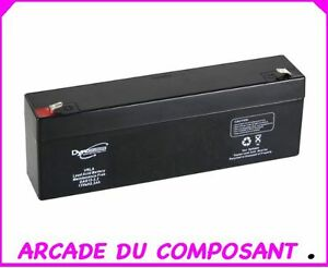1 accumulateur batterie au plomb 12v 2 2a ref 19 1494 poids 1 600kg ebay. Black Bedroom Furniture Sets. Home Design Ideas