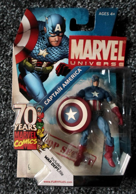 75th Anniversary Marvel Marvel Marvel comics Universe Captain america exclusive  FIGURE Hasbro 7bdcff