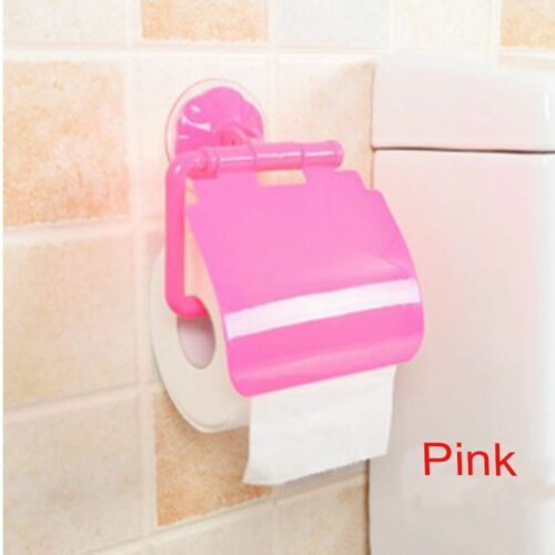Bathroom Roll Tissue Box Lavatory Sucker Toilet Paper Holder Napkin Storage