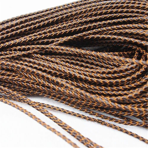 100CM Dia 3mm Round Rope Bolo Braided Cow Leather Cord DIY Craft Jewelry