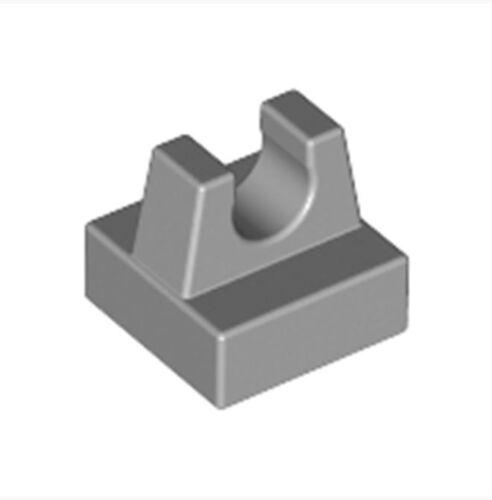 Lot of 100 LEGO Plate 1x1 W Up Right Holder /_Medium Stone Grey /_4211369 2555