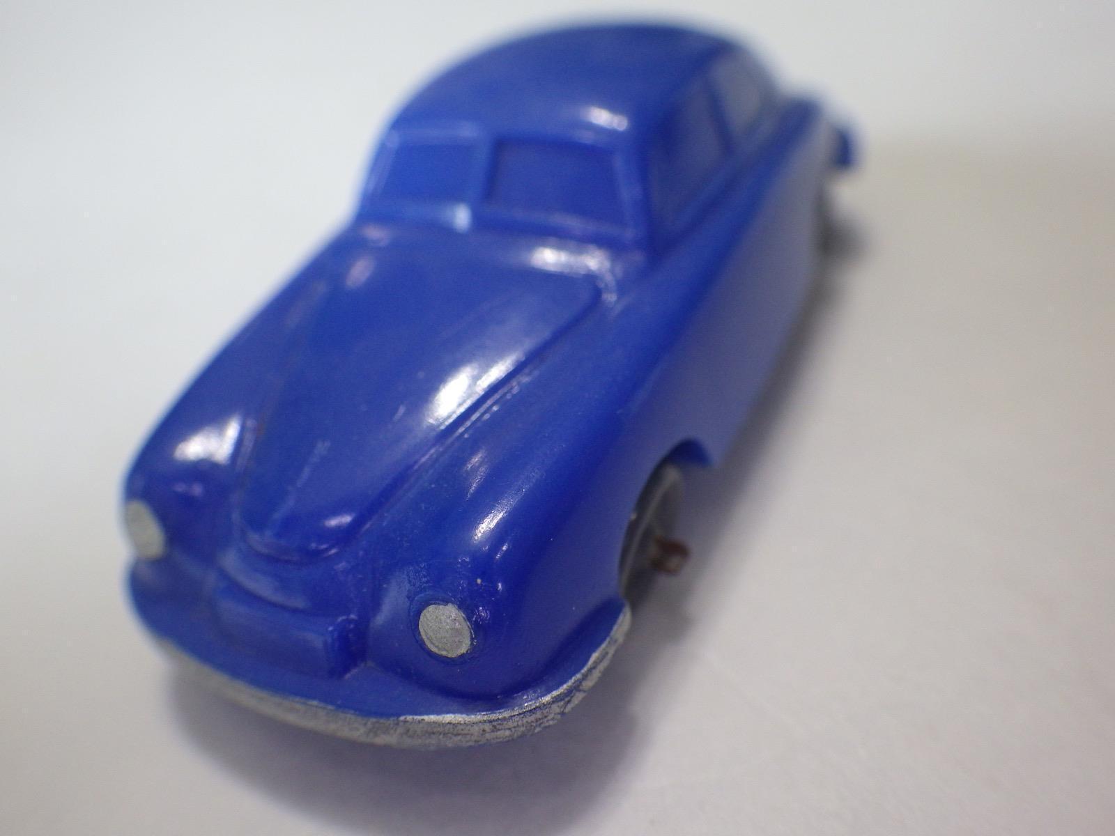 OLD WIKING (Allemagne) Bleu Foncé PORSCHE 356 Split Window Coupe Plastique