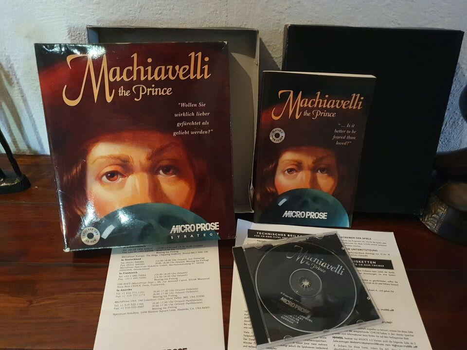 Machiavelli The Prince, big box, Microprose
