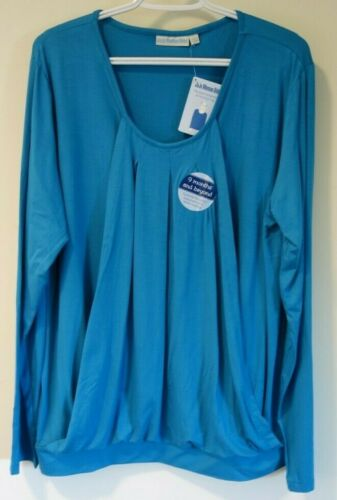 Details about  /NWT JoJo Maman Bebe Teal Maternity//Nursing Top Size Large 12-14