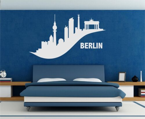 Murales skyline Berlín Edel sinuosos pared Pegatina tatuaje pegatinas decorativas