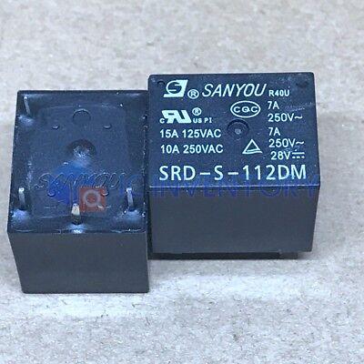 5Pcs 12VDC SRD-S-112DM 15A 125VAC 4Pins Coil Power Relay BF
