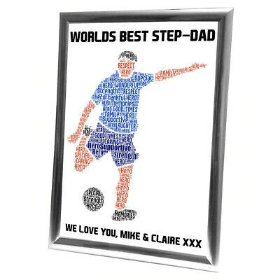 Personalised Christmas Gifts Dad Daddy Father Him Framed Best Card Boxing