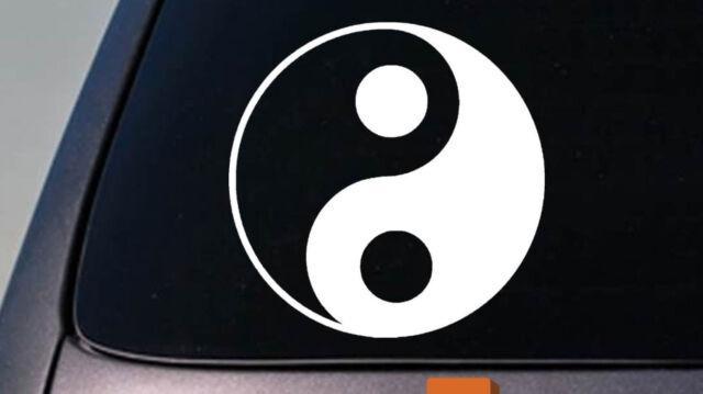 Car Window Decal Yin Yang Heart and Peace Sign Love Hippie Truck Vinyl Sticker