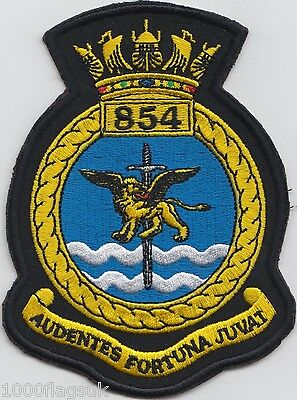 854 Naval Air Squadron Royal Navy Embroidered Crest Badge Patch MOD Approved