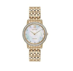 Citizen Eco-Drive Women's Gold Watch B023-S107857 NIB without Tags
