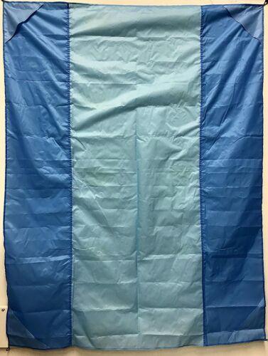 "LIGHT  54/"" x 71/"" NEW Waterproof Portable Picnic Camping Pocket Blanket BLUE"