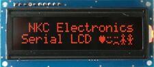 Serial Lcd Module 16x2 Amber On Black 5v Uart I2c Spi For Arduino