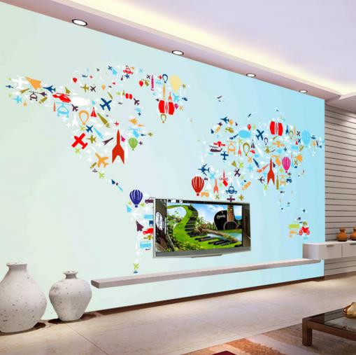3D Colour Adorn 668 Wallpaper Murals Wall Print Wallpaper Mural AJ WALL AU Kyra