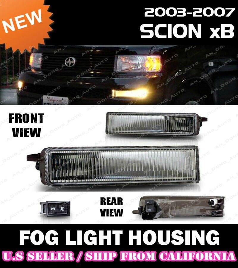 Fits Winjet 03-07 Scion xB Fog Lights Lamps Clear
