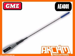GME AE4013 UHF 38 CM FLEXIBLE GROUND INDEPENDENT SO239 477 MHZ ANTENNA 2.1 DBI
