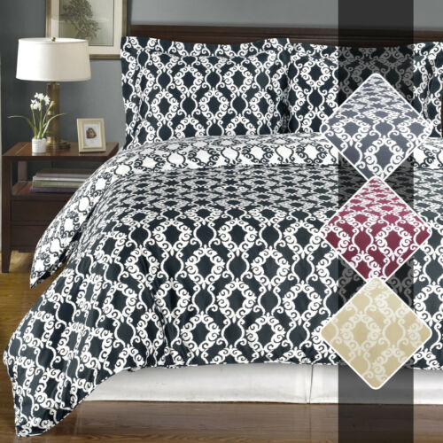 Sierra 100/% Washed Cotton Duvet Cover 2-3 Piece Reversible Ultra Soft Smooth Set