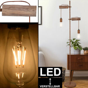 LED Lampen Wohn Zimmer Strahler Höhen verstellbar Filament Glas Leuchten Dimmbar