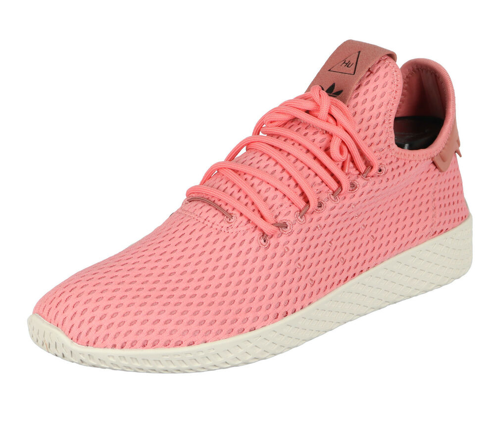 Adidas Pharrell Williams Tennis Hu Chaussures Décontractées Sz 10.5 Tactile Rose