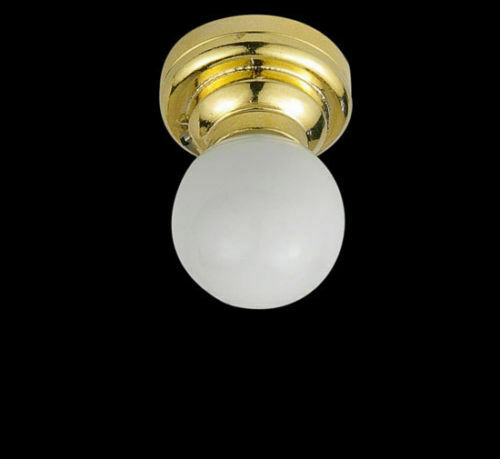 1:12 Dollhouse Miniature Ceiling Lamp LED light Battery Operated Lamp White