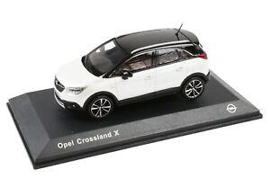 Opel-Crossland-x-coche-modelo-coleccionista-auto-1-43-nieve-blanco-oc11017