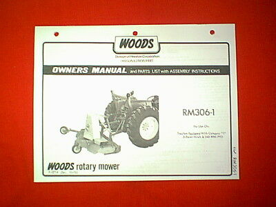Woods 3 Point Hitch Mower Brush Hog Model Rm3061 Owner